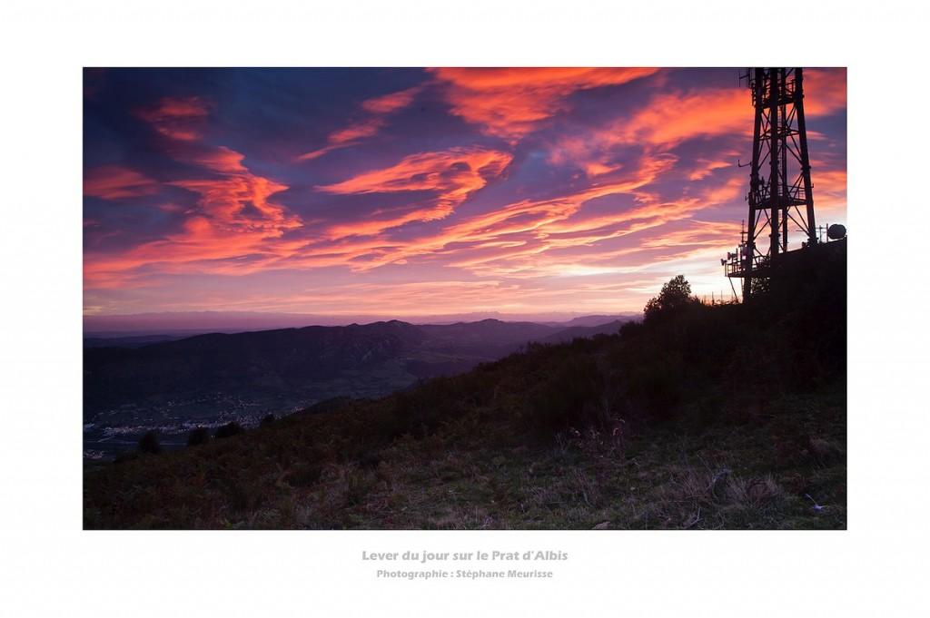 Lever du jour sur Foix