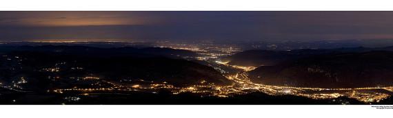Balade de nuit sur les hauteurs de Foix